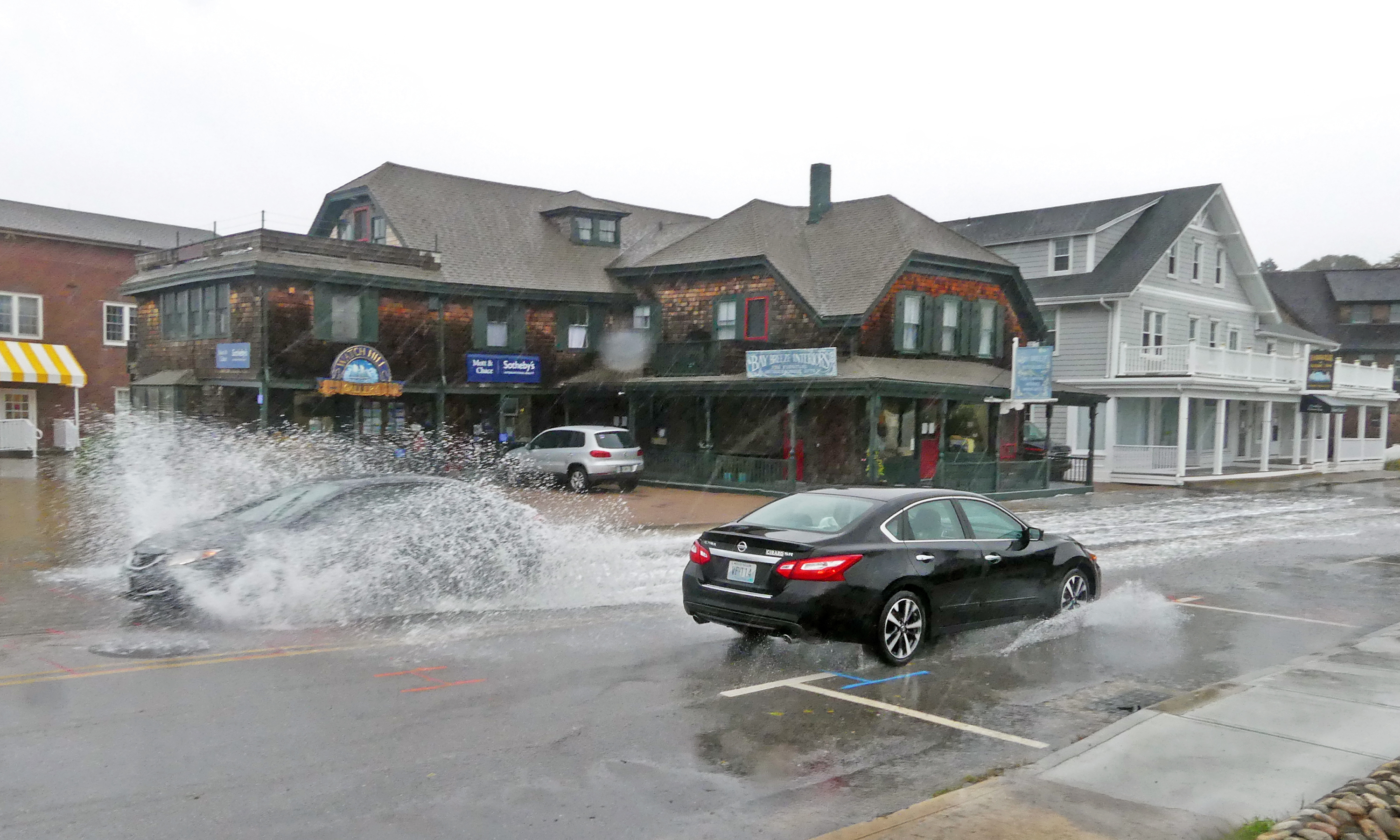Storm surge effects in Westerly, RI