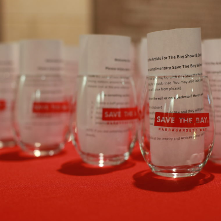 Save The Bay reduces event waste by distributing re-usable glasses to guests