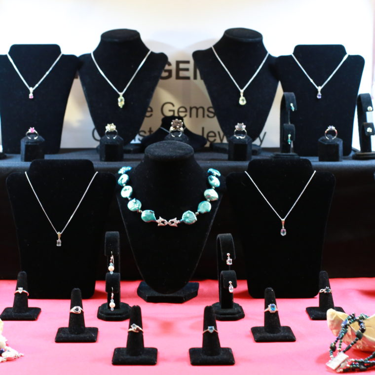 Jewelry on display during the 2016 Artists for The Bay show.
