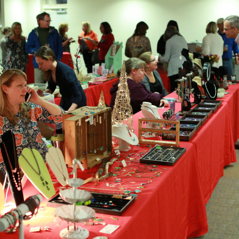 Vendors fill the Bay Center during the 2016 Artists for The Bay opening