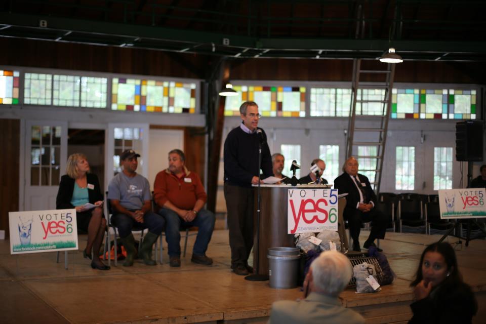 Jonathan Stone talking at the YES on 5 & 6 Bond Kickoff Rally