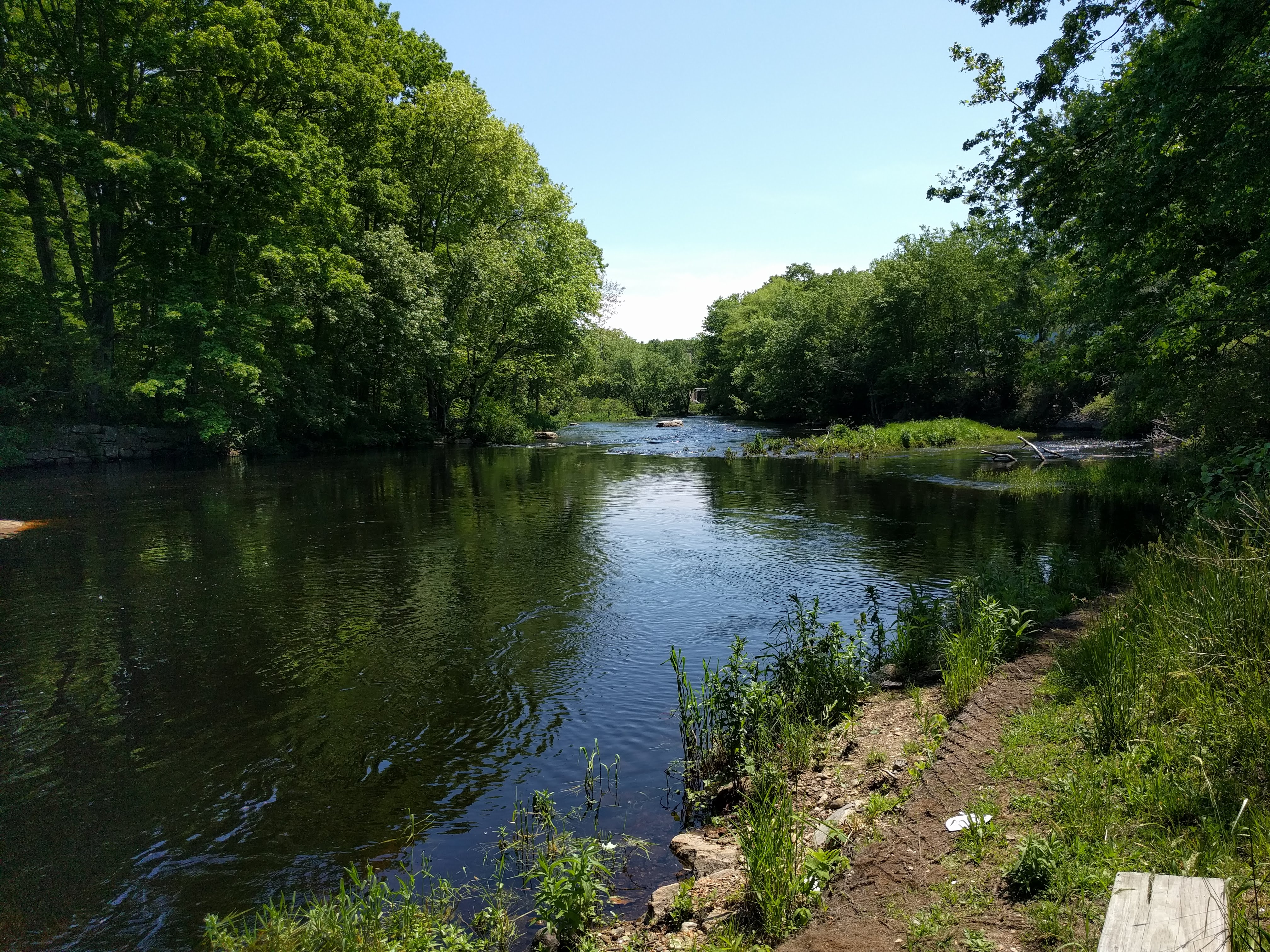 Pawcatuck River at the site of the old White Rock Dam