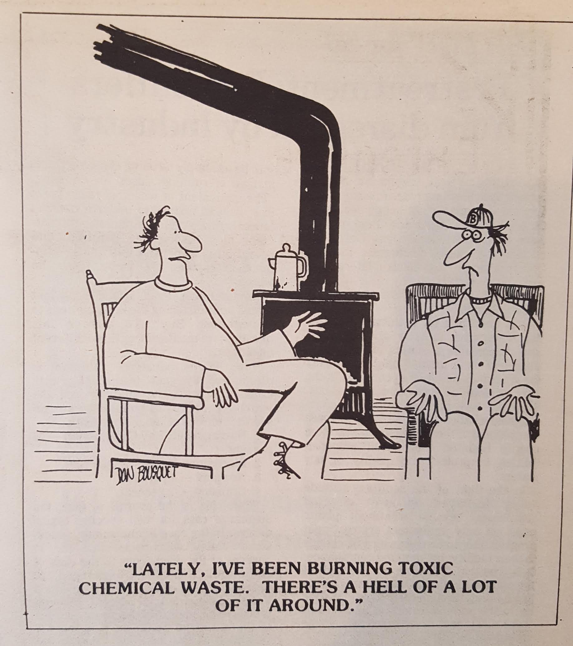 Don Bousquet cartoon about the hazards of incineration