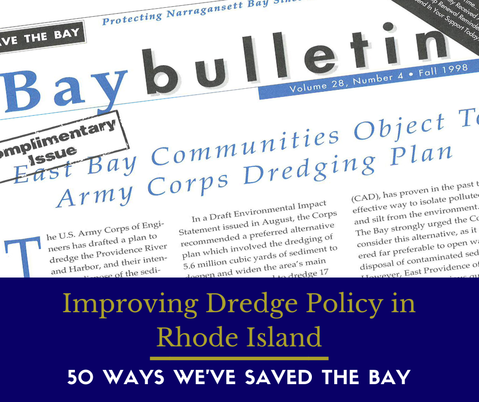 Headline from an old Bay Bulletin article: East Bay Communities Object to Dredging Plan