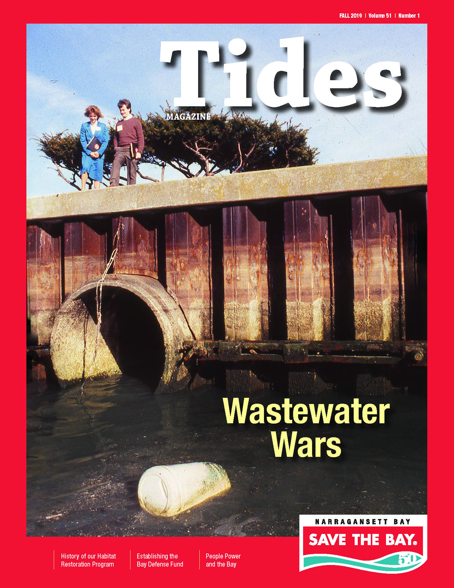 The cover of Save The Bay's Fall 2019 issue of Tides