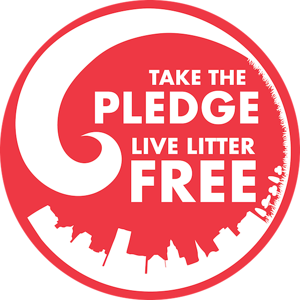 Take the Litter Free Pledge Logo