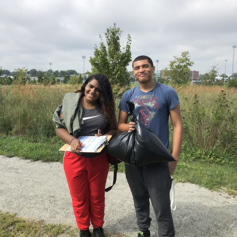 Fields Point Greenway cleanup during ICC 2018.