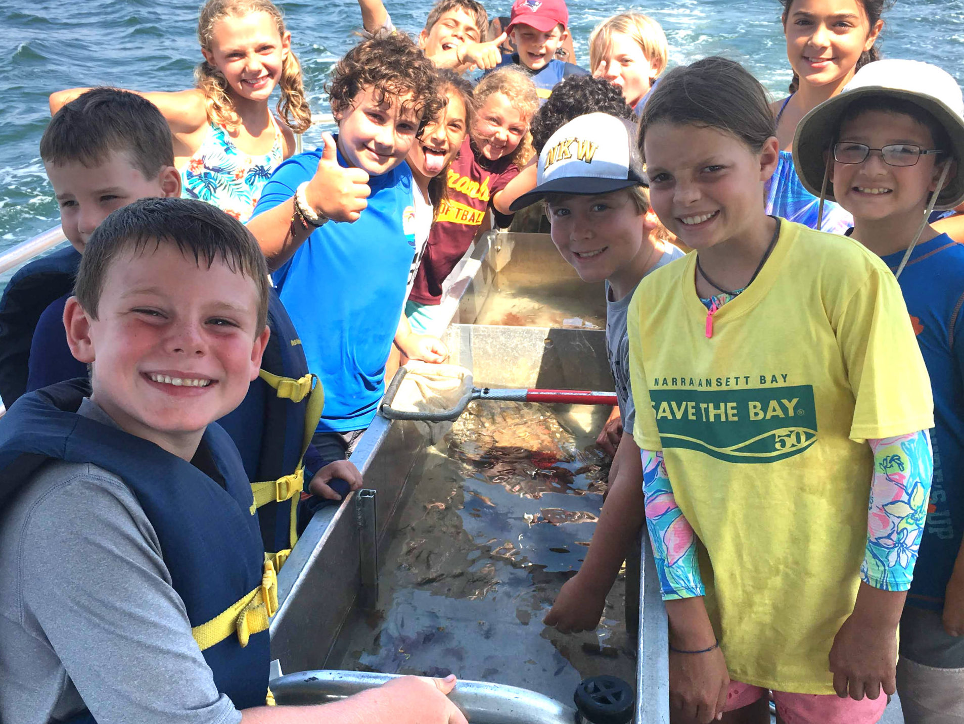 2019 BayCampers enjoy a sunny day on Narragansett Bay