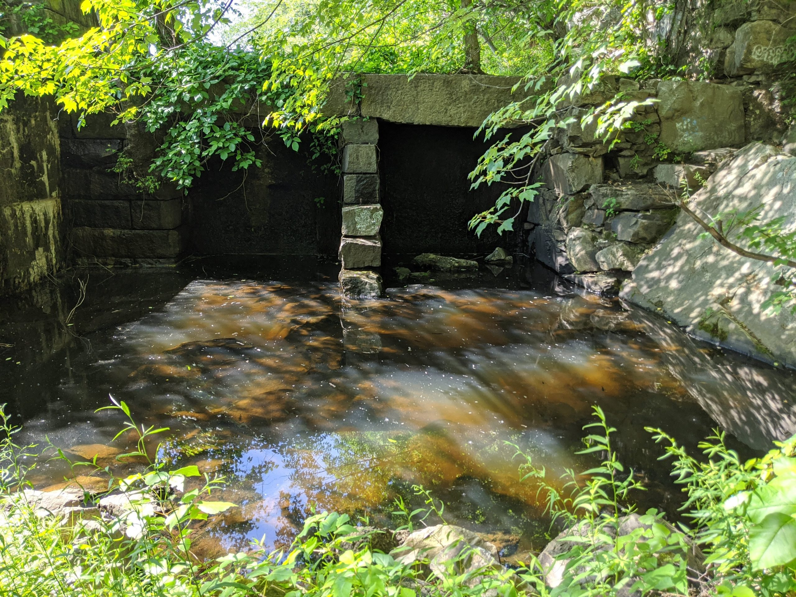 The Albion Dam on the Blackstone River in Cumberland, R.I.