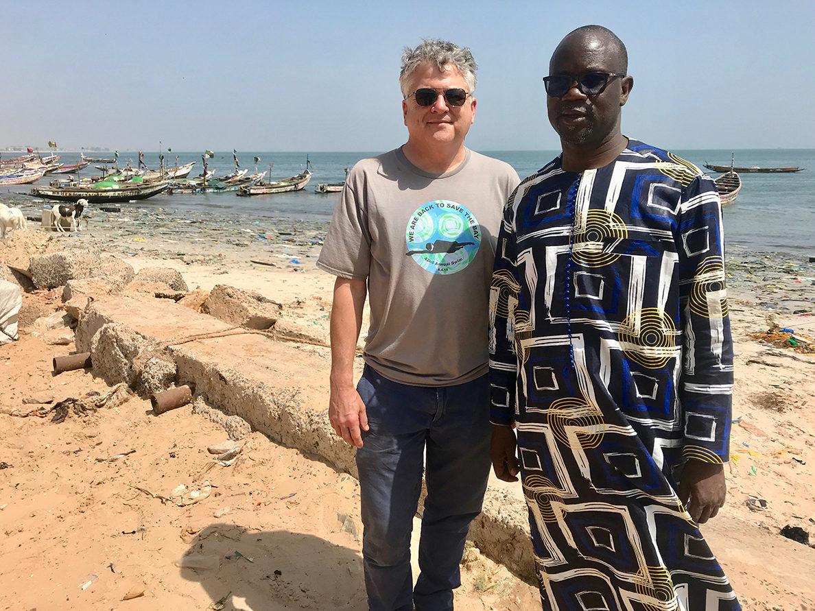 During a recent visit to Senegal, Director of Advocacy, Topher Hamblett, met Mbacke Seck, the Hann Baykeeper in the sprawling coastal fishing community of Hann, just south of the capital, Dakar.