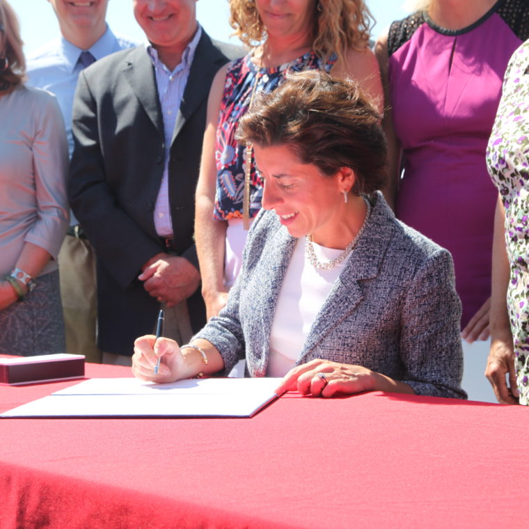 Governor Gina Raimondo signs cesspool phase-out bill