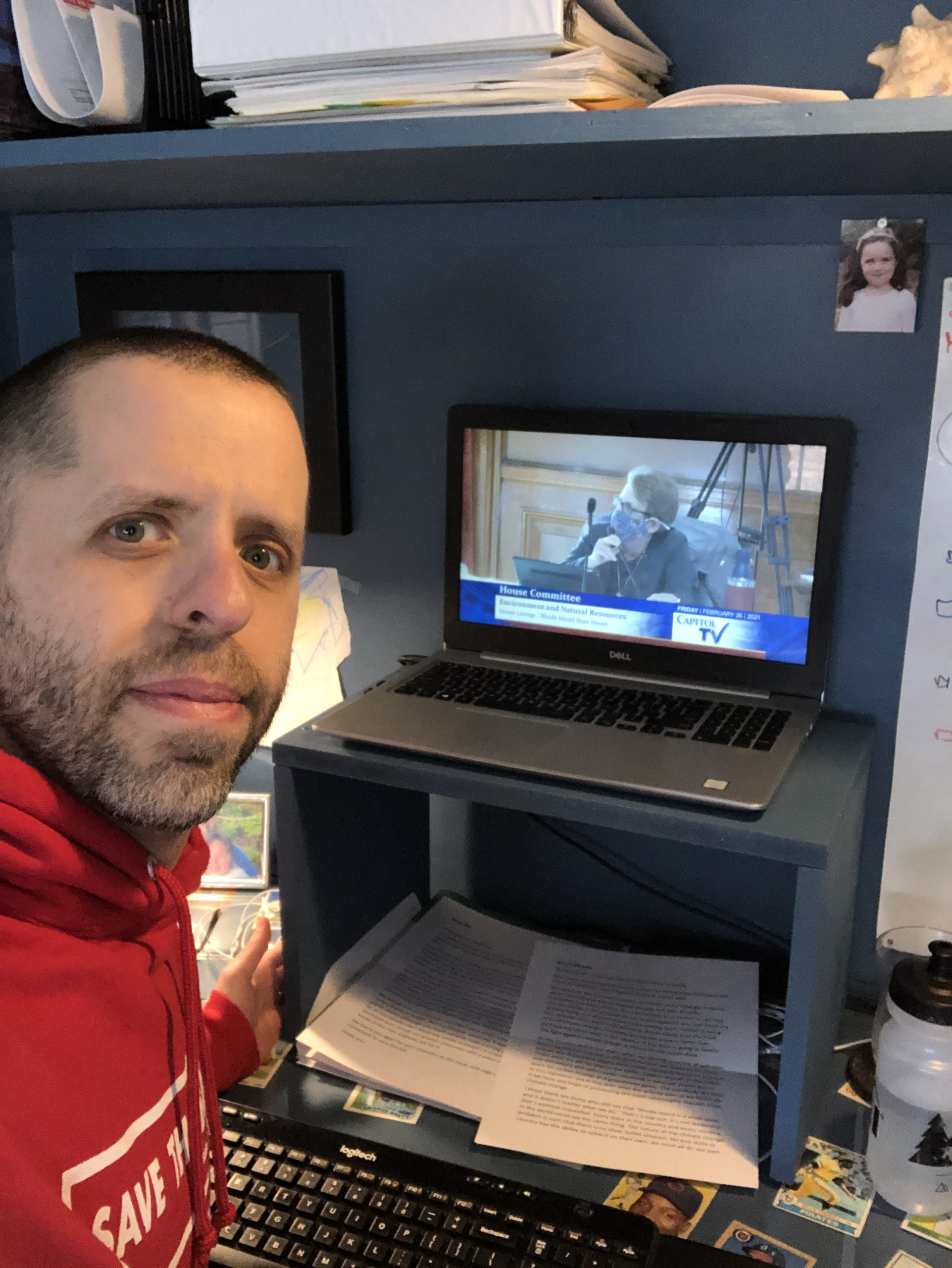 Save The Bay Advocacy Coordinator, Jed Thorp, submits testimony virtually during the 2021 Rhode Island legislative session.