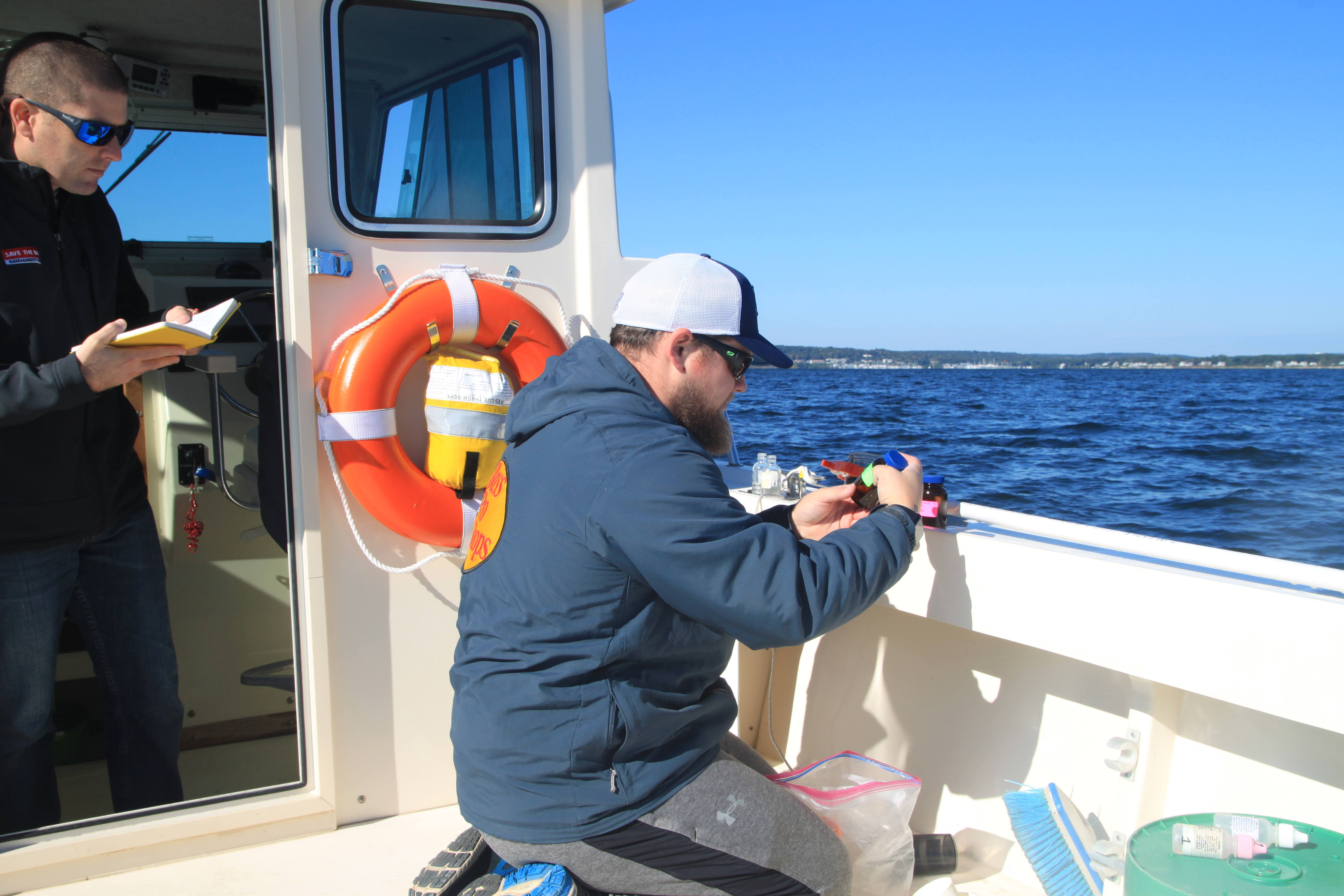Water Quality Testing in the upper Bay