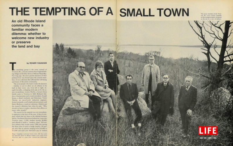 Photo of 1970 Life Magazine article about Save The Bay's first battle