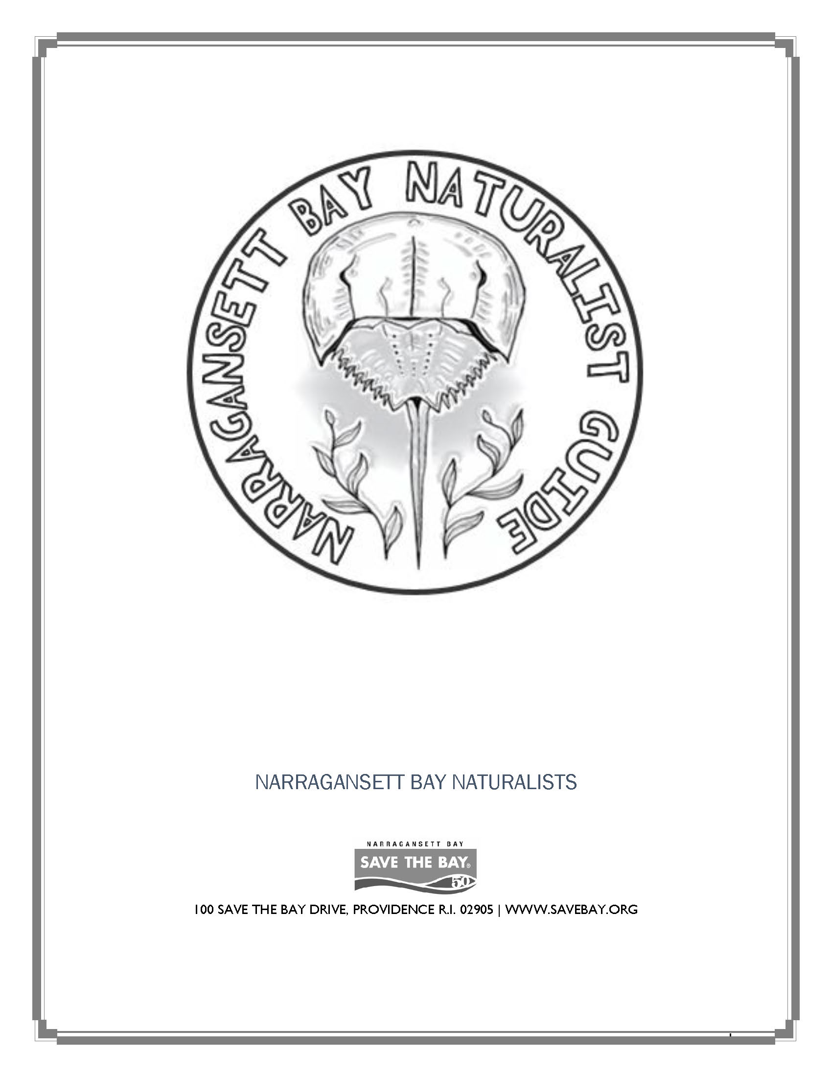 The cover of the Narragansett Bay Naturalist Guide