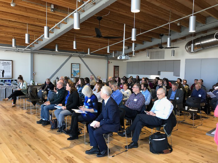 "Audience members at the April 29th ""State of the Blackstone River and Its Watershed"" workshop."