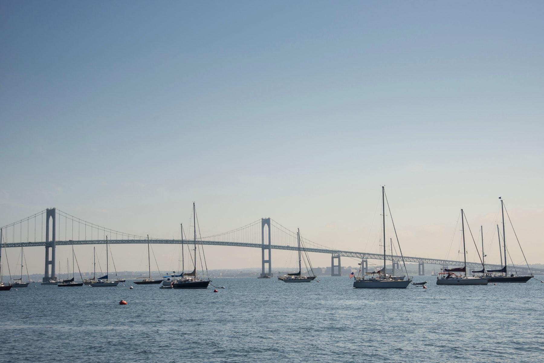 Sailboats in Narragansett Bay