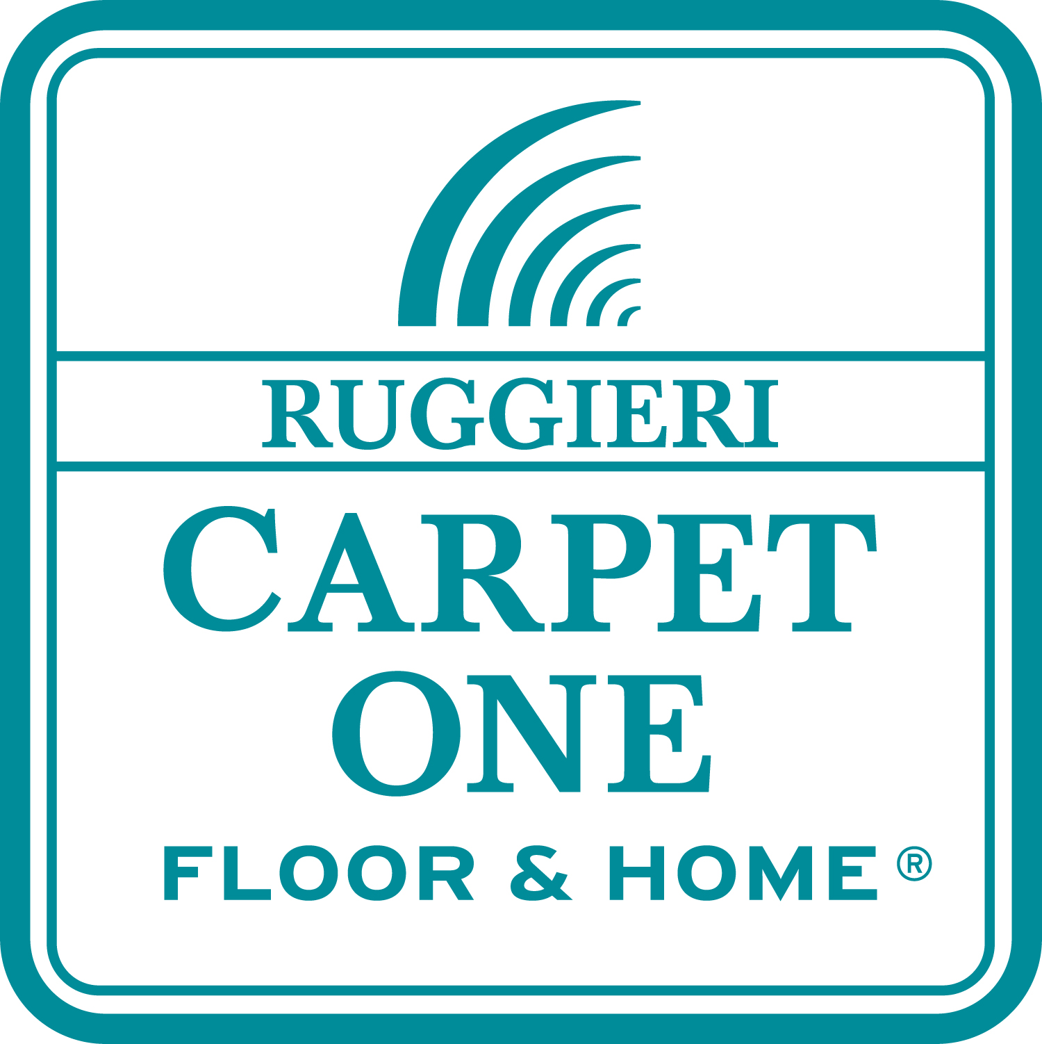 The logo for Ruggieri Carpet One, a 2021 Save The Bay event sponsor