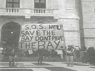 Save The Bay demonstration opposing Quonset megapart