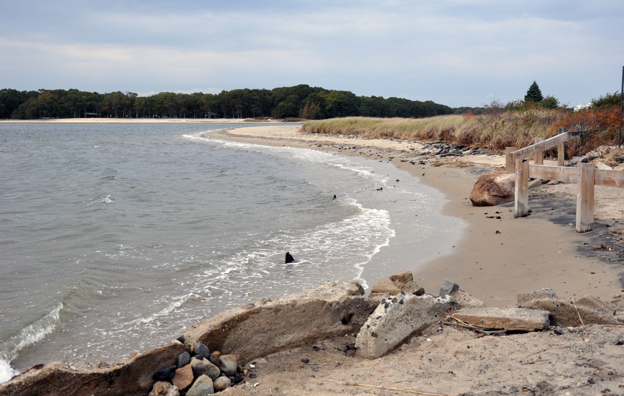 High tides and storms contribute to the erosion at the southern end of Sea View Drive, and flooding throughout the nearby neighborhoods.