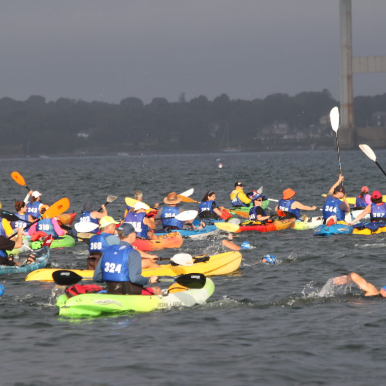Save The Bay Swim Kayakers 2018