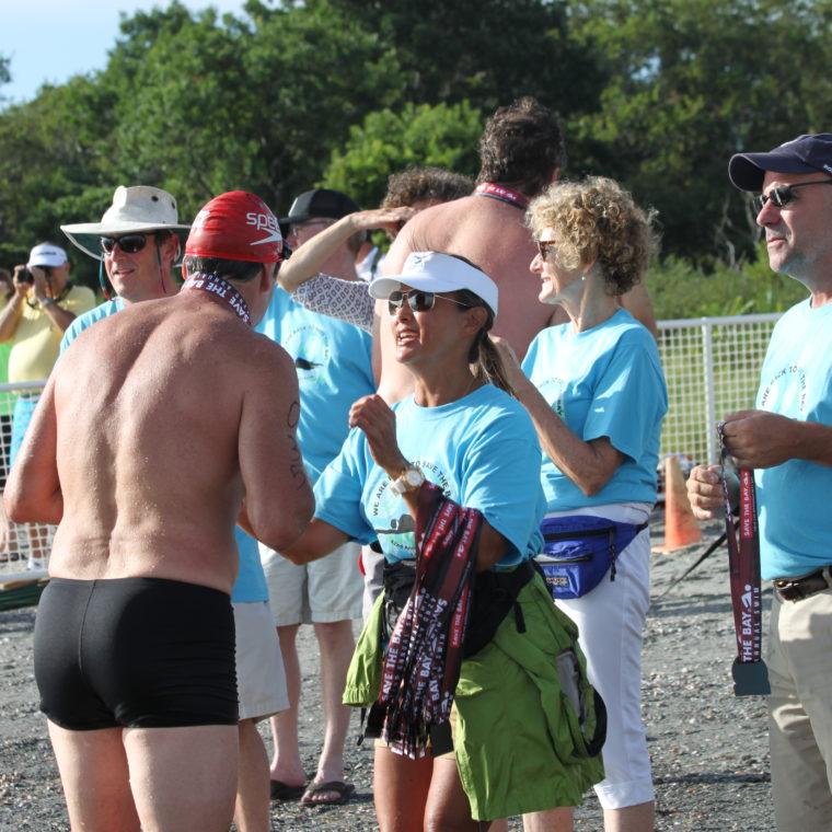Save The Bay Swim Finish line Awards