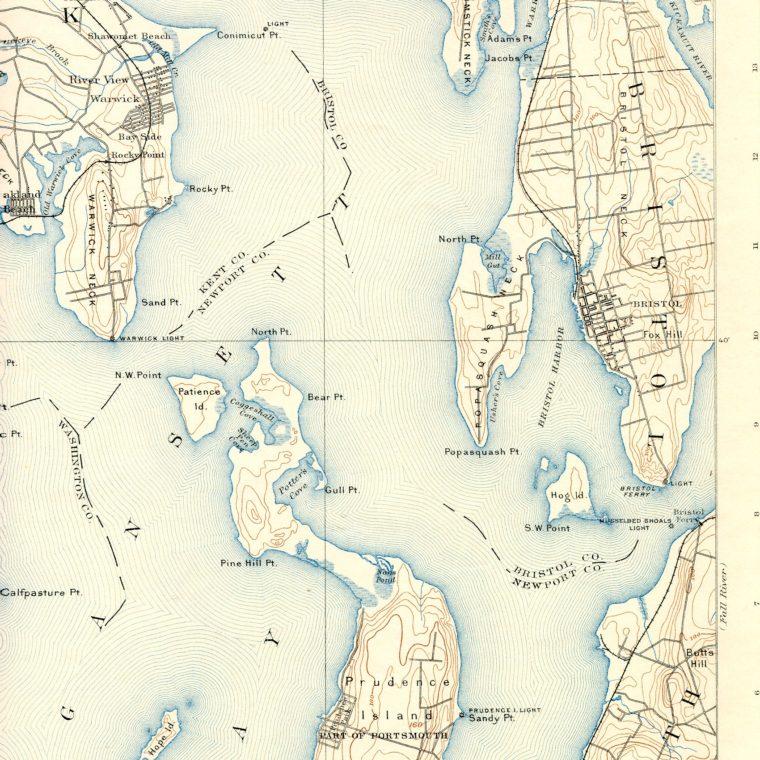 North East Narragansett Bay 1892