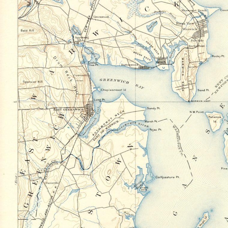 North West Narragansett Bay 1892