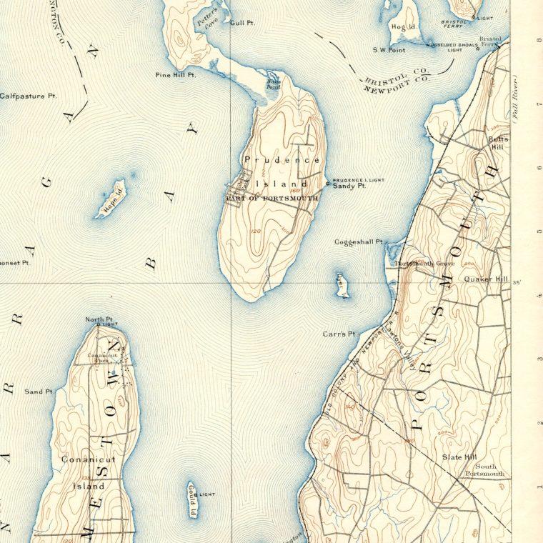 South East Narragansett Bay 1892