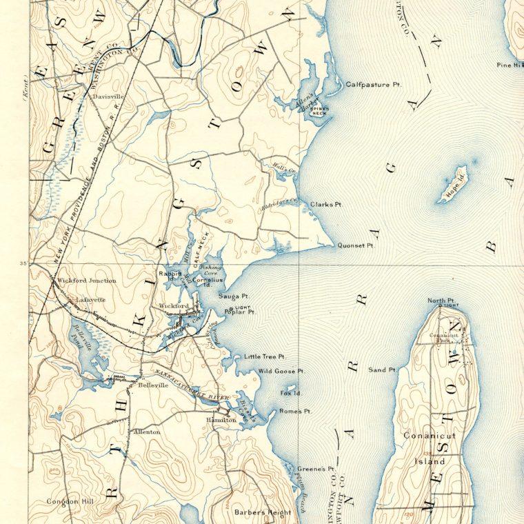 South West Narragansett Bay 1892