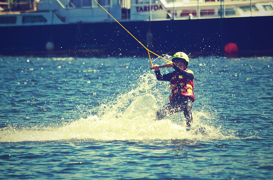 Child water skiing