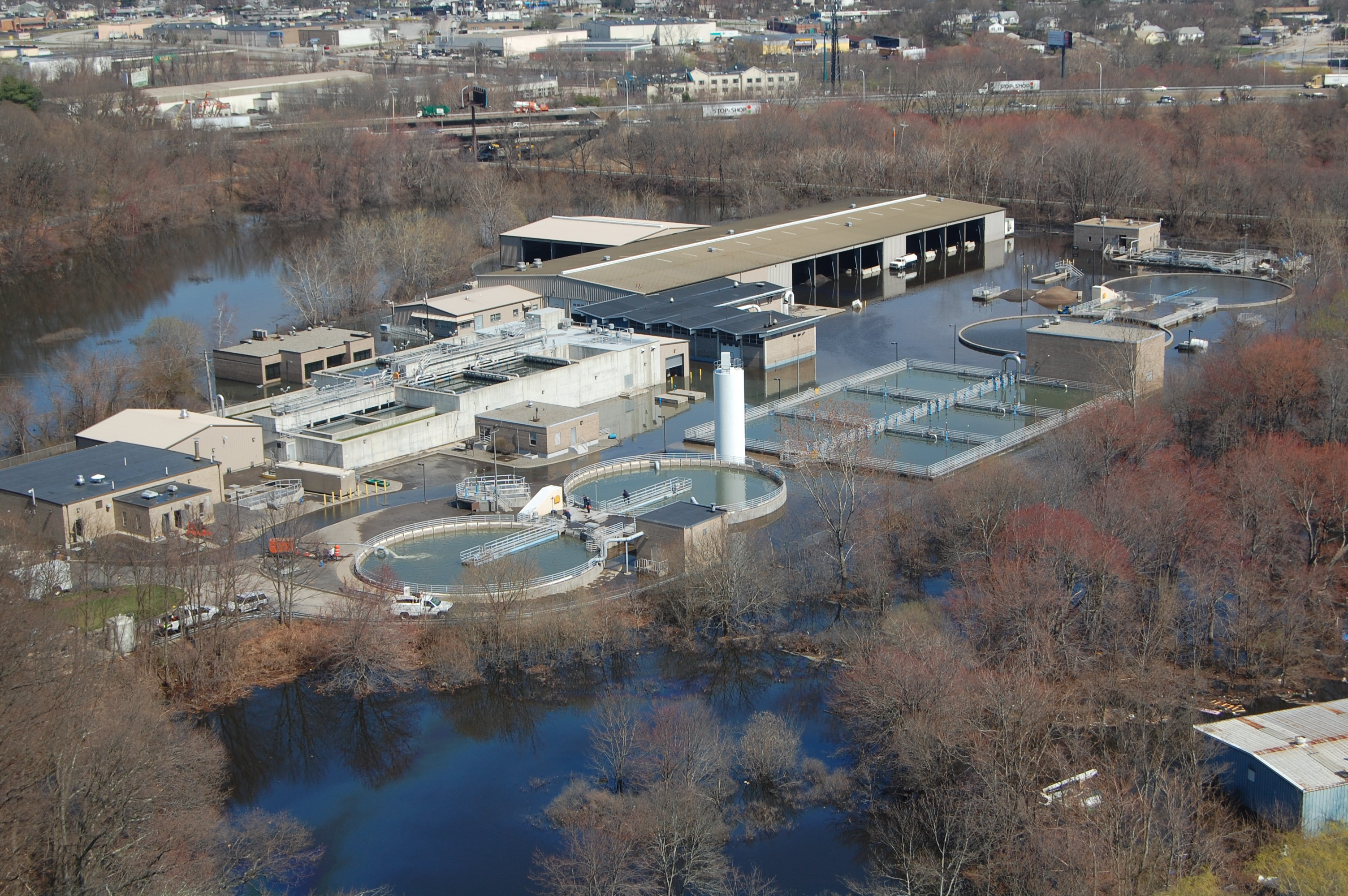 West Warwick Wastewater Treatment Plant during the 2010 Floods